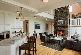 Open Kitchen And Living Room Design Ideas9 Wall DecorLiving Extraordinary Of Fireplace