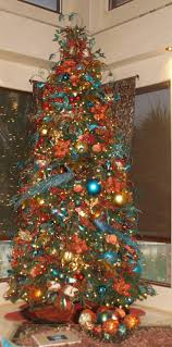 Downswept Pencil Christmas Tree by Christmas Trees Peacock And Copper Christmas Tree Are Beautiful
