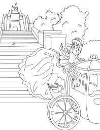 Cinderella Turns Beautiful Coloring Pages In Hurry Page