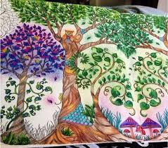 Trees Owl Enchanted Forest Arvores Coruja Floresta Encantada Johanna Basford Adult ColoringColoring BooksJoanna