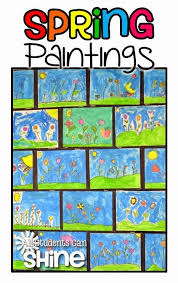 All Students Can Shine Bright Ideas SPRING Art Projects See Step By