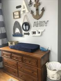 Nautical Gallery Wall In Our Son Aces Nursery Curtains Overstock Decor
