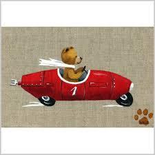 tableau ourson chambre bébé tableau ours garçon voiture lili pouce stickers appliques