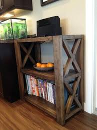 Ana White Rustic Headboard by Bookcase Easy Do It Yourself Wall Shelves Rustic X Bookshelf
