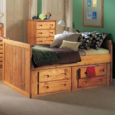 Trendwood Bunkhouse Twin Roper Captain s Bed with 4 Drawer
