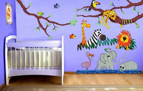 stickers jungle chambre bébé avec les stickers pour chambre bébé vous allez créer une ambiance