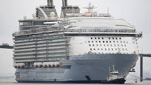 world s largest cruise ship harmony of the seas arrives in
