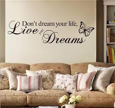 nicht traum ihr leben englisch inspirational zitate home decor studie wohnzimmer schlafzimmer wand aufkleber adesivo de parede wand kunst