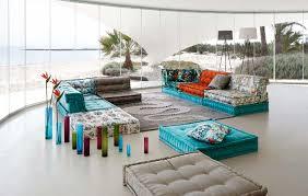 100 Roche Beaubois Bobois Mah Jong Sofa In Jean Paul Gaultier Designed Upholstery