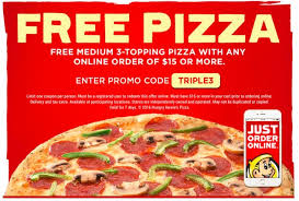 Hungry Howies Free Pizza Coupon The Next Day Owner Called To Apologize And Offered Our Order