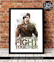Captain America And Bucky Barnes Art Print Steve Rogers