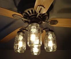 Gyro Ceiling Fans With Lights by Mason Jar Ceiling Fan Light Kit New Quart Jars Mason Jar Light