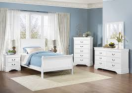 iDeal Furniture Farmingdale Mayville Burnished White Twin Sleigh Bed