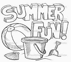 Summer Coloring Page For Kids Seasons Pages Printables New