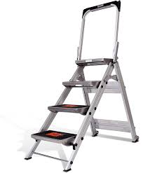 Little Giant Ladder Systems 10410BA Safety Step Ladder Four Step ...