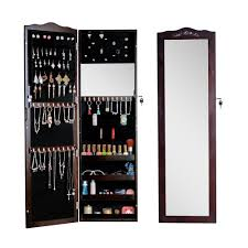 Ebay Dressers With Mirrors by Jewelry Cabinet With Mirror Brown Wall Door Mount Mirrored
