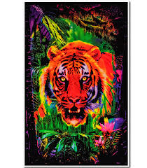 Opticz Jungle Tiger Blacklight Poster