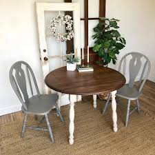 Round Table And Chairs - Farmhouse Furniture - Blue Dining ... Refinished Solid Oak Farmhouse Table With 6 Chairs 2 Leaf Ding Fniture In A Range Of Styles Ireland Dfs Rugs 101 The Best Size For Your Room Rug Home 30 Decorating Ideas Pictures Of Inviting Blue Lamb Furnishings Round Vintage Dropleaf Table Total Kenosha Wi Lets Settle This Do Belong In Kitchen Amish Sets