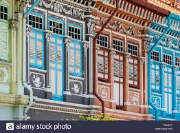 100 Terrace House In Singapore Peranakan Stock Photo 222978203