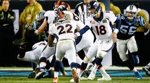 Carolina Panthers Bedroom Curtains by Peyton Manning Denver Broncos Beat Panthers In Super Bowl 50 Si Com