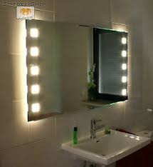 details zu forte cube ii bad wand kristall spiegel beleuchtet satiniert led 17 größen