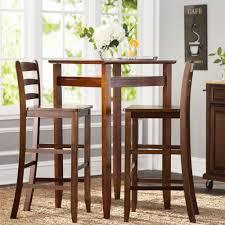 Wayfair Dining Room Furniture by Chair Charlton Home Halo 3 Piece Pub Table Set Reviews Wayfair
