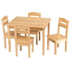 Amazon.com: KCHEX>Kids 5 Piece Table Chair Set Pine Wood Children ...