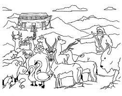 A Biblical Story Of Noahs Ark Colouring Page Coloring