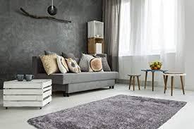 teppich hochflor shaggy kuschelig wohnzimmer schlafzimmer handgefertigt uni rosa