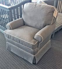 Wingback Glider And Ottoman Tufted Nursery Chair Upholstered