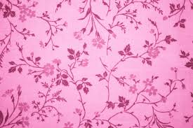 Pink Floral Print Fabric Texture