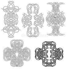 Download Set Celtic Tatoo Stock Illustration Of Curl