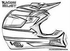Drawn Bike Dirt Helmet 13