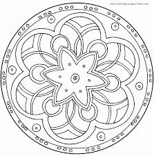 Simple Coloring Free Printable Mandalas To Color New At Mandala Page Pages For Kids