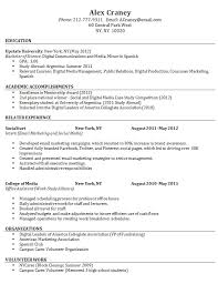 12 Sample Resume For Fresh Graduate Easy Samples Without Work