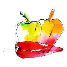 Watercolor foods Quarto Creates e Watercolor a Day2