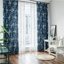 vorhang modern welle design blau im wohnzimmer vorhänge