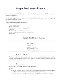 Food Service Resume Samples Banquet Sample Waiter