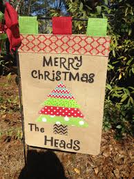 Flagpole Christmas Tree Topper by Christmas Tree Garden Flag Christmas Burlap Flag Burlap