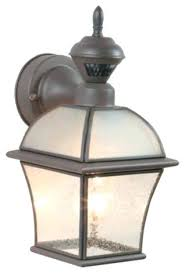 outdoor wall light with motion sensor traditional garden wall