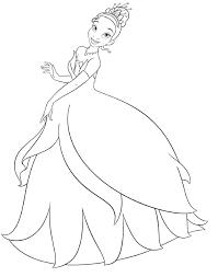 Disney Princess Tiana Printable Coloring Pages Princesses