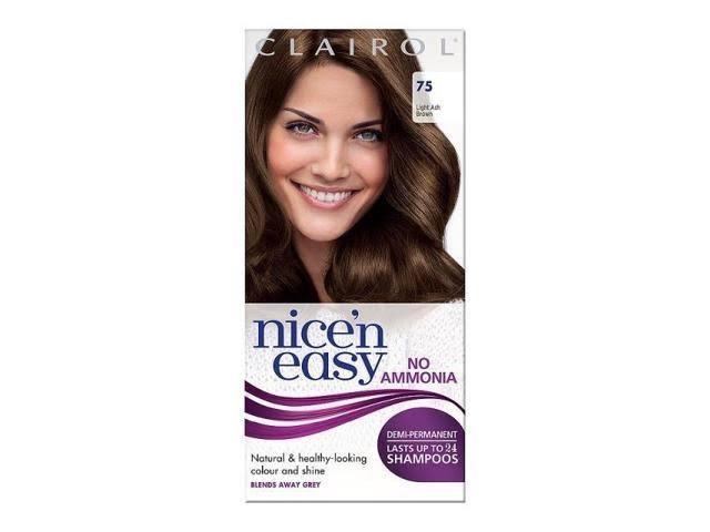 Nice'n Easy Non Permanent Hair Dye - No Ammonia, Light Brown 755