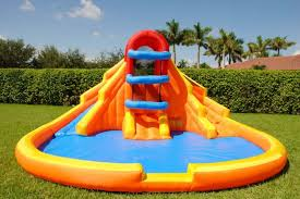 Large Kids Inflatable Pool With Slide