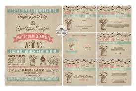 NEW Dark Vintage Mason Jar Wedding Invitation Printable Coral Mint Green Invitations Country Rustic