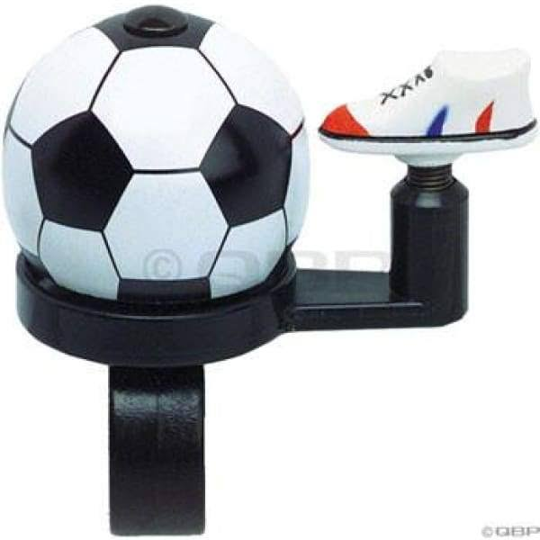 Dimension Bike Products Soccer Ball With Shoe Bell Bicycle Bell