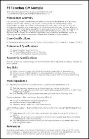 Physical Education Teacher Resume Samples Examples Special Objective Needs Assistant Educat