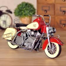 OurSanli Handmade Vintage Harley Davidson Motorcycle Model