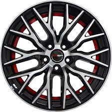100 Black And Red Truck Rims GWG Wheels 18 Inch Wheels