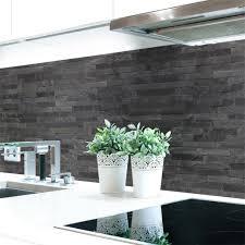 küchenrückwand steinwand dunkel premium hart pvc 0 4 mm selbstklebend direkt auf die fliesen größe 60 x 51 cm