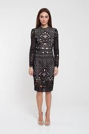 romance long sleeve black lace dress online shopping